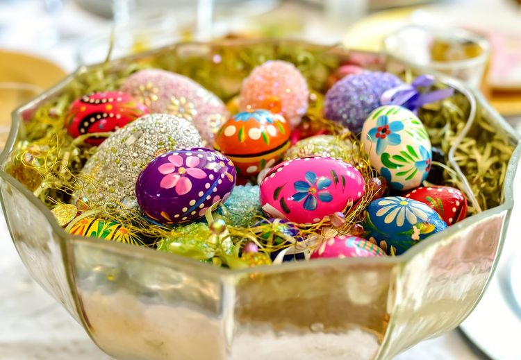 bowl of colorful Easter eggs Bradley Olson Bradleywarren Photography Room For Copy Copy Space Copyspace Room For Text Backgrounds Background Easter Ready Easter Eggs Colorful City Multi Colored Easter Variation Paint Candy Arts Culture And Entertainment Group Of Objects Easter Egg Choice Collection Centerpiece Easter Egg Hunt Easter Bunny Religious Celebration Setting The Table Display Various Bauble Glitter