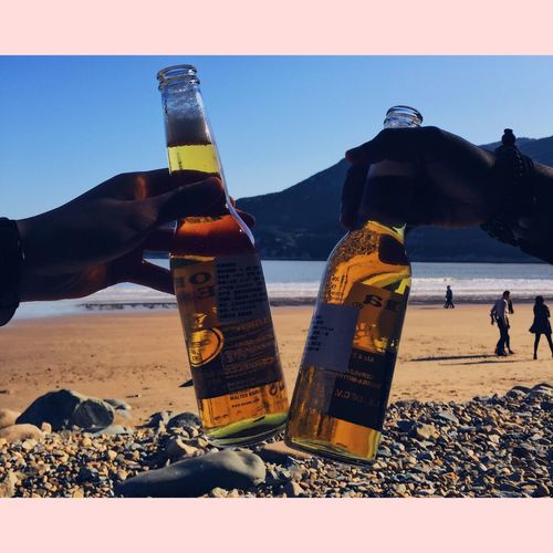 Corona on the beach. Beach Sea Sky Outdoors Real People Sand Scenics Horizon Over Water Nature Landscape Beauty In Nature Day Water First Eyeem Photo