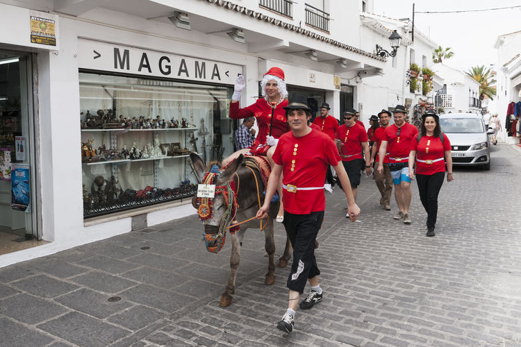 Celebrations in Mijas, Spain Group Of People Leisure Activity Lifestyles Men Mijas Party SPAIN Stag Do Stag Party Street Street Life Street Photography Streetphotography