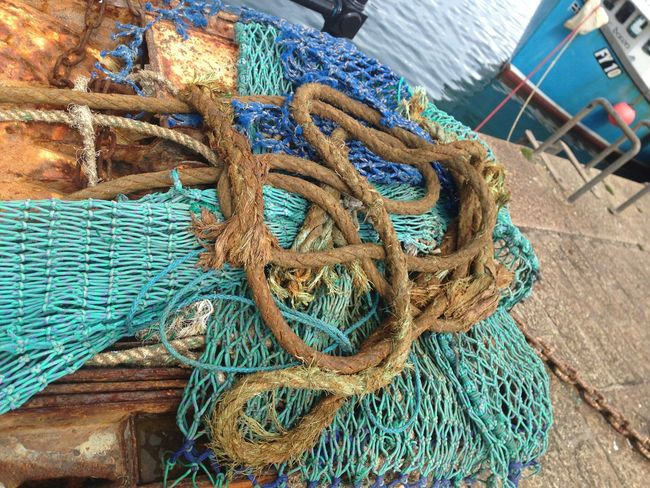 Nautical, fishnet,cornwall Nautical Nautical Theme Fishnets Boat Vessel Fishing Village Outdoors Cornwall Uk Tangled