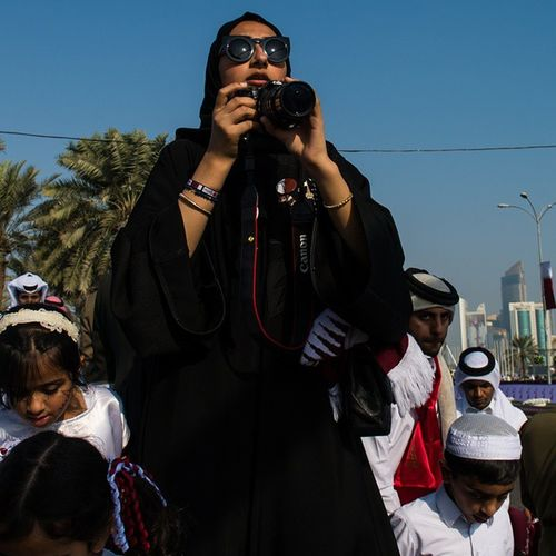 QND2014 Awesome Glasses Photographer in qatar parade @gettyreportage