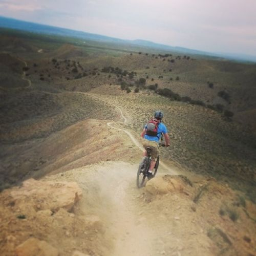 Joe's Ridge drop in.I could see for miles and miles. 18road Fruita Mtblife