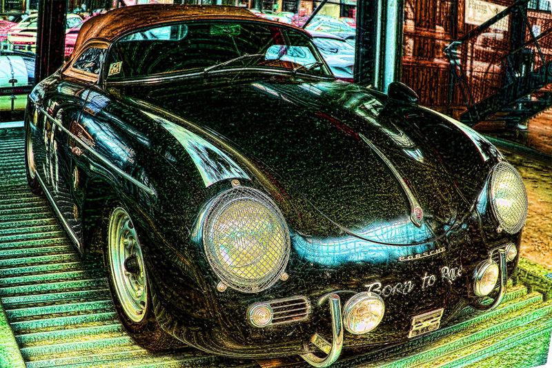 Auto Cabrio Cat Day Old Oldie  Outdoors Porsche PORSCHE 356 Porsche Rallye Stationary