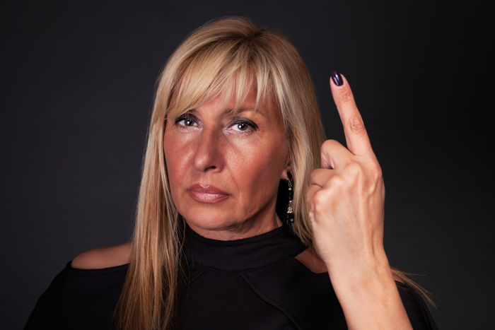 Woman threatening with her finger - close up Adult Blond Hair Discipline Dissapointed Fingers Gesturing Hostile Human Hand Lady Mature Adult Mature Women Middle-aged Mother One Person One Woman Only Parent People Person Scary Serious Studio Shot Woman Woman Portrait
