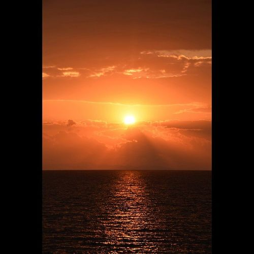 むつ湾 風景 夕陽 海