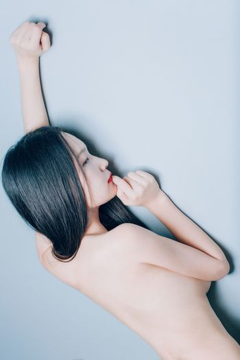 Young Women One Person Black Hair Beautiful Woman Indoors