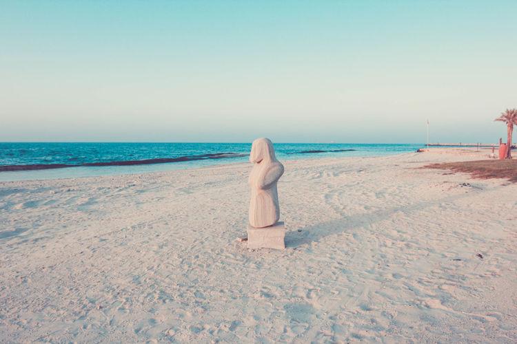 Beach Blue Clear Sky Day Outdoors Sand Sea