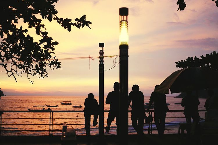 Relaxing Check This Out Enjoying Life Hanging Out Hello World Sunset Silhouettes Beach Sunset Sunset Silhouette Beach Holiday Sunset_collection Vacation Cuticutimalaysia Tourism Pangkor Sea