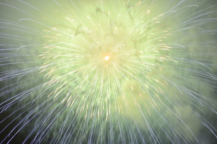 花火 Fireworks Exploding Firework Display Firework - Man Made Object Long Exposure Arts Culture And Entertainment Celebration Night Low Angle View No People Illuminated Sky Outdoors Green Blue