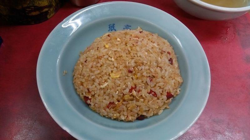 Chinese Food Foodporn Enjoying A Meal 炒飯!焼豚の赤い色がそのまま炒飯の色に(笑)!