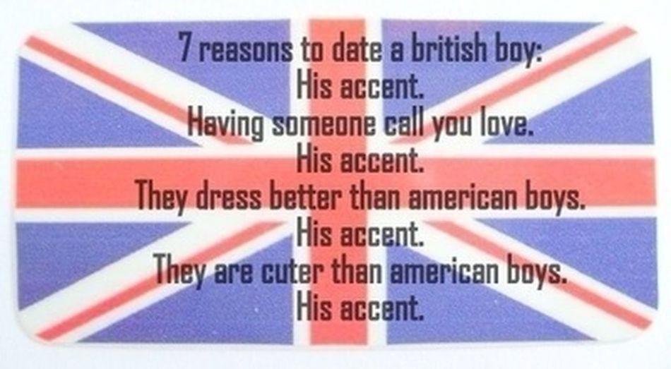 His accent . (;