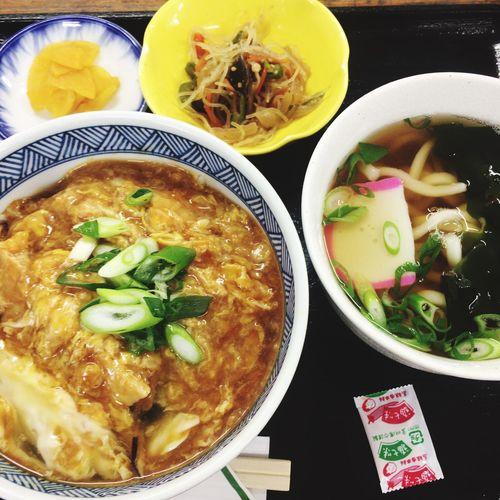 衣笠丼とミニうどん Lunch Foodporn
