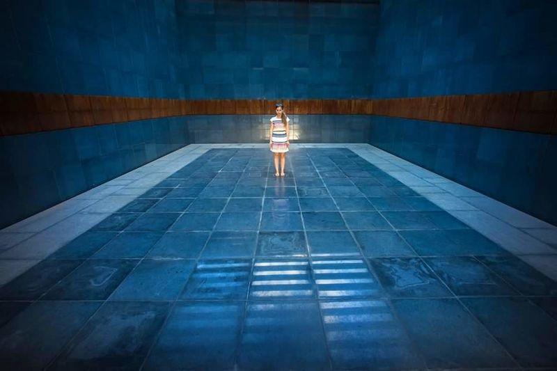 Man in swimming pool