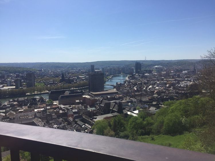 19/04/2018 View From Above View Citadel Liège Luik City Built Structure Architecture Sky Cityscape Building Nature No People Clear Sky Sunlight Day High Angle View Road