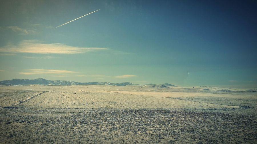 EyeEmNewHere #türkiye #Turkey Anadolu Anatolia Dağ Kış Winter Wintertime Kırsal Countryside Fromthetrain Technology Sky Landscape