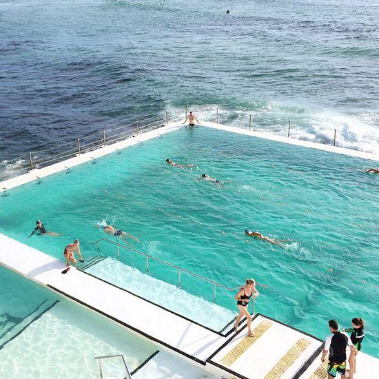 Icebergs Bondibeach Swimmers Swimming