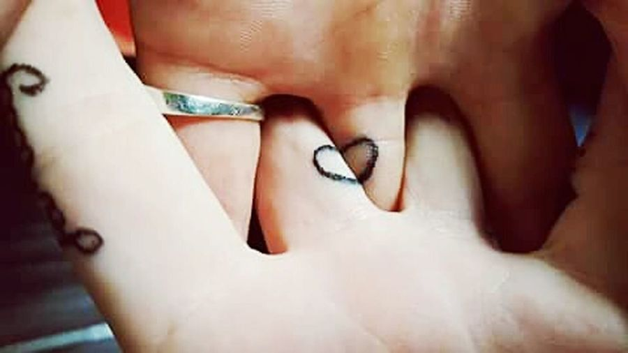 Love Couple Tattoo Heart Sweet Moments Sweet Simplicity