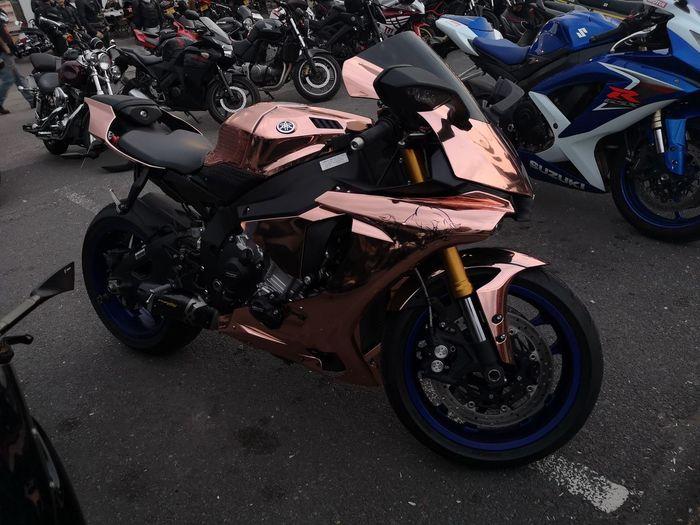 Yamaha Copper Colored Copper Coloured EyeEm Selects Motorcycle Land Vehicle Stationary Motorbike