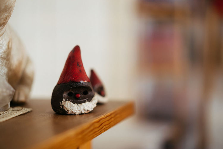 Christmas Decoration Christmas Decoration Christmas Festive Decoration Representation Indoors  Toy Mammal No People Celebration Holiday Close-up Art And Craft Focus On Foreground Domestic Animals Creativity Human Representation Selective Focus Red