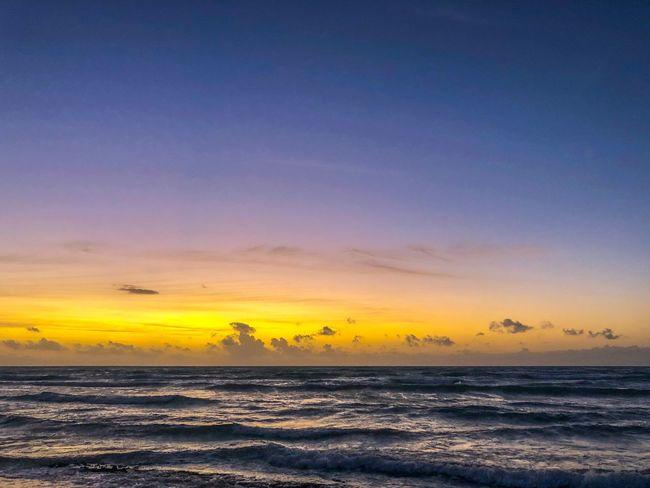 Amanecer en Akumal 2 Sky Sunset Scenics - Nature Water Sea Beauty In Nature Horizon Over Water