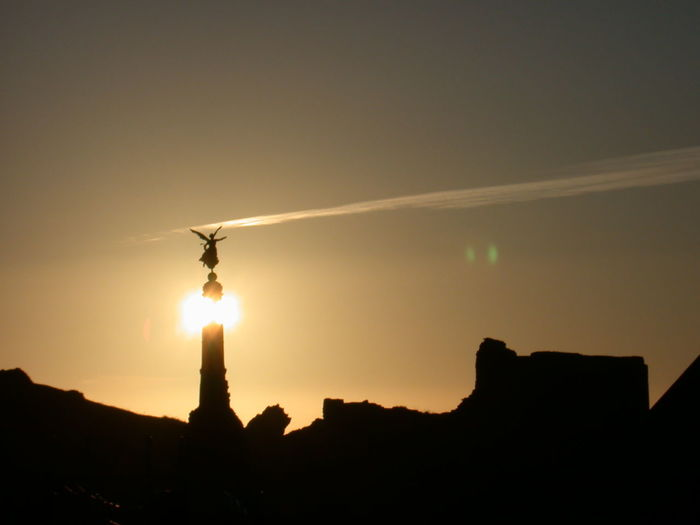 Cloud Angle Architecture Harlech Illuminated Monument Outdoors Silhouette Sky Sunset
