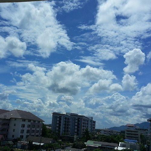 อ่านหนังสือมากไปเริ่มปวดตา พักสายตาด้วยการมองท้องฟ้า สวยจัง เหมือนภาพวาดเลย Sky