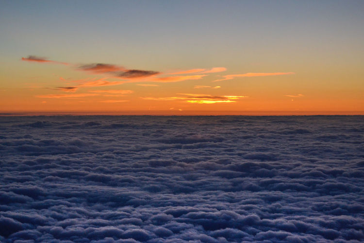Orange Orange Sky Beauty In Nature Cloud - Sky From An Airplane Window Horizon Over Clouds Horizon Over Sky Idyllic Nature No People Outdoors Scenics Sea Of Cloud Sky Sunset Sunset Over The Clouds Tranquil Scene Tranquility