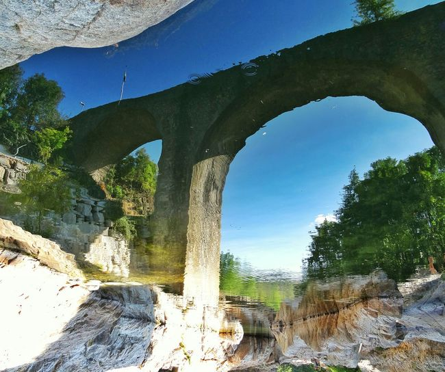 Waterreflections  Ardeche France Pont Bridge Neyrac Les Bains