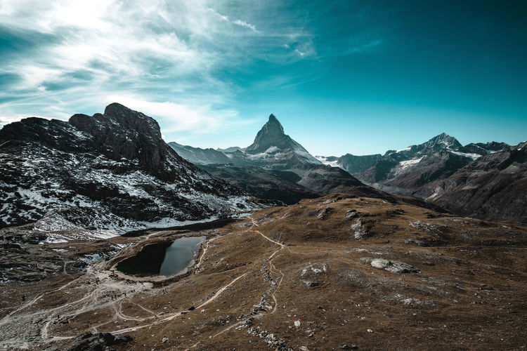 on top of Switzerland Mountain EyeEmNewHere Mountain Sky Mountain Range Infinity Countryside Lakeside
