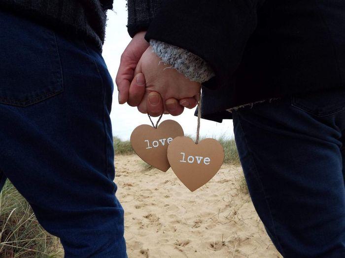 Anniversary Love Husband And Wife Hearts Sanddunes Oldhunstanton Hands Holdinghands Norfolk Uk