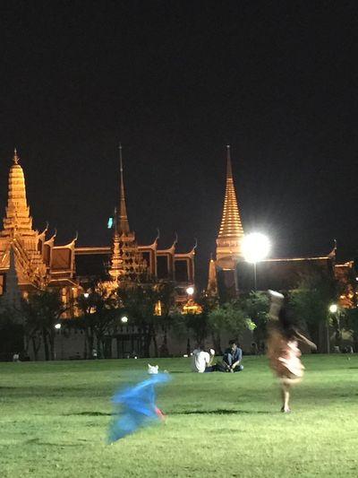 Sananlaung Wat Prathat Lampang Luang Vintage Taken By Iphone 6 Plus Night Photography Night View
