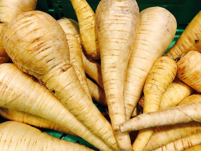 Close-Up Of Parsnip Vegetables