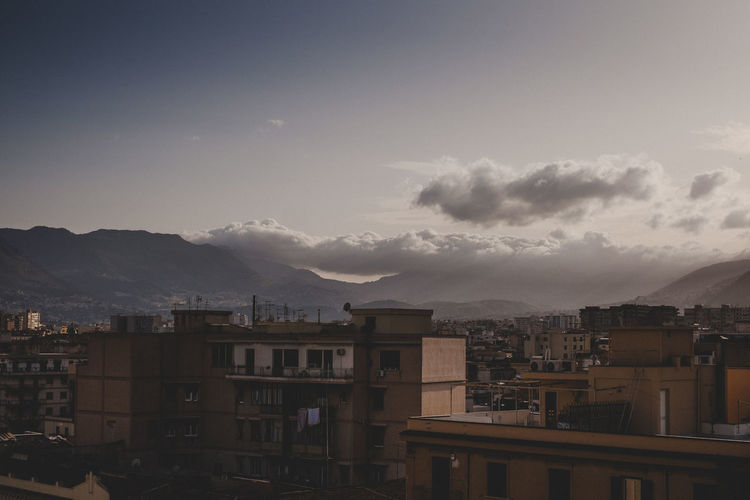 Clouds rolling in over Palermo Cloudscape Travel Travel Photography Adventure Architecture Building Exterior City Cityscape Mountain Residential Building Sky Travel Destinations