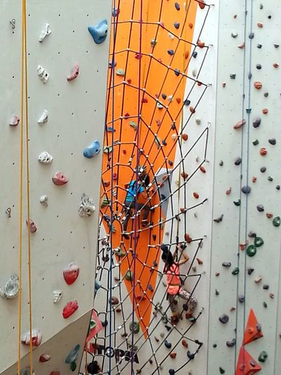 Spiderkids Climbing Climbing Wall Rock Climbing Built Structure Day Architecture Indoors  People Children Of The World Children At Play EyeEmNewHere The Week On EyeEm