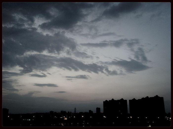 e vai chegando a noite de sábado Sky_collection Brasília Águas Claras Céu