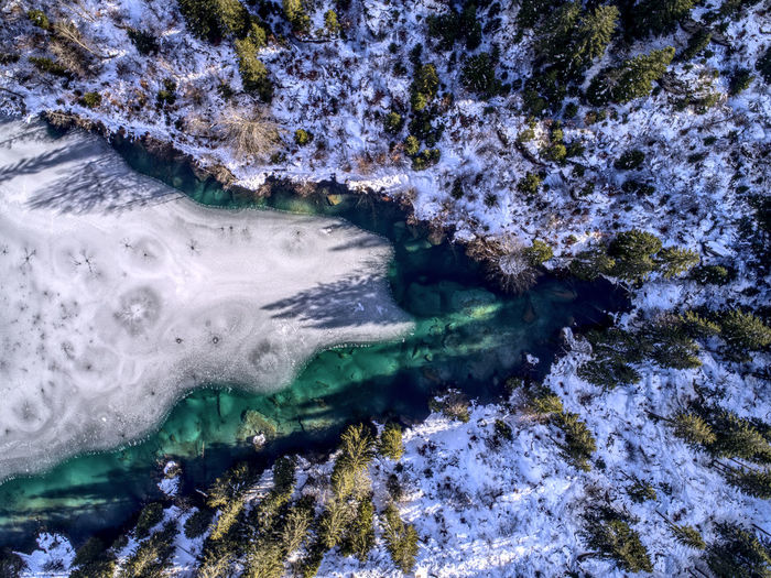 Nature Winter Backgrounds Birdseyeview Bluewater Cold Temperature Dronephotography Frozen Water High Angle View Lake
