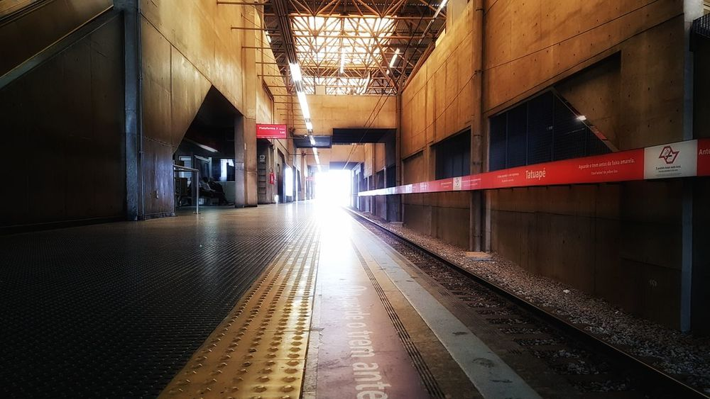 Gray places and skull faces... This is Sao Paulo! Empty Railway Lights And Shadows