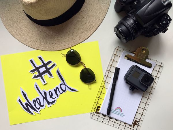 Paint The Town Yellow Weekendvibes Weekend Yellow Camera - Photographic Equipment High Angle View Photography Themes Technology Digital Camera Indoors  Wireless Technology Group Of Objects No People Photographing Day The Week On EyeEm