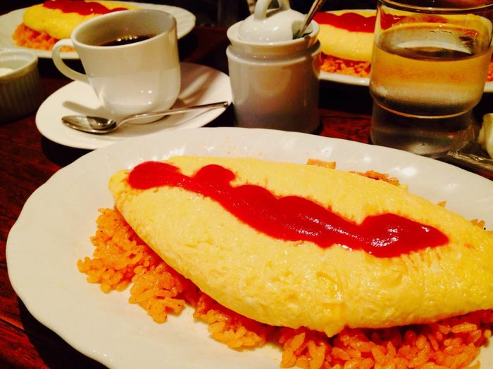 Eating Yammy!!  Omurice Lunch Time! 喫茶 歌舞伎座 Ginza