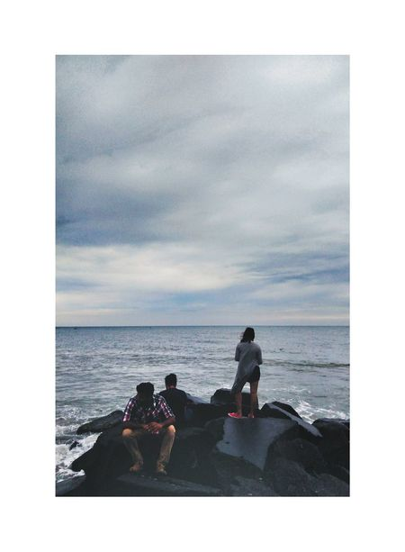 Sea Horizon Over Water Beach Two People Togetherness Water Sky Cloud - Sky Adult People Sitting Silhouette Relaxation Vacations Outdoors Scenics Day Indianphotographer EyeEm Selects Streetsofindia👣 Indiaincredible Indiaclicks India_ig India_gram Moodygrams