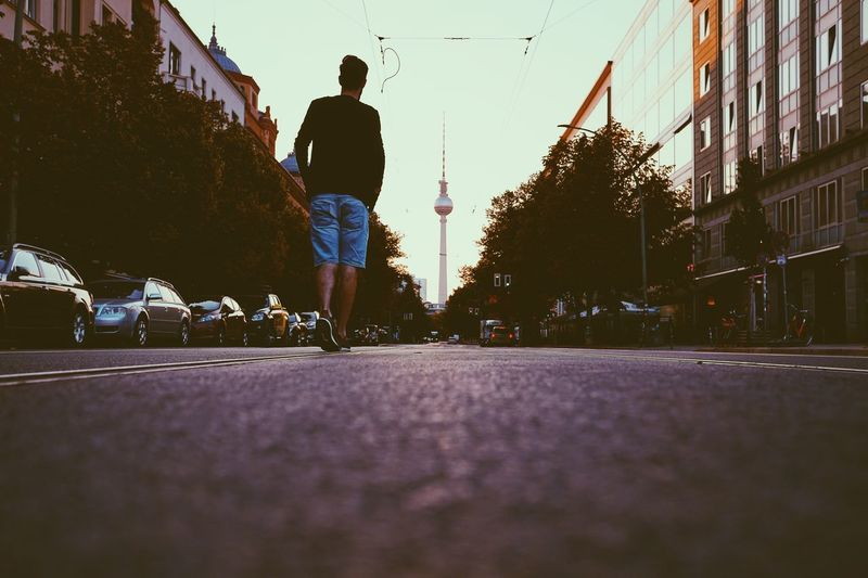 Berlin Photography Berlin Real People City Architecture Building Exterior Built Structure Nature Full Length Lifestyles Street Men One Person Sky Leisure Activity Transportation Surface Level Day Sport Sunlight Motion Outdoors
