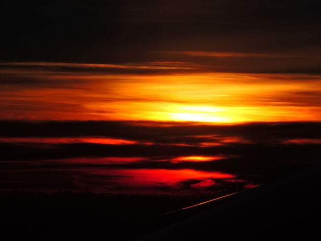 Beauty In Nature Cloud - Sky Dramatic Sky Nature Night No People Orange Color Outdoors Scenics Silhouette Sky Sunset Tranquil Scene Tranquility