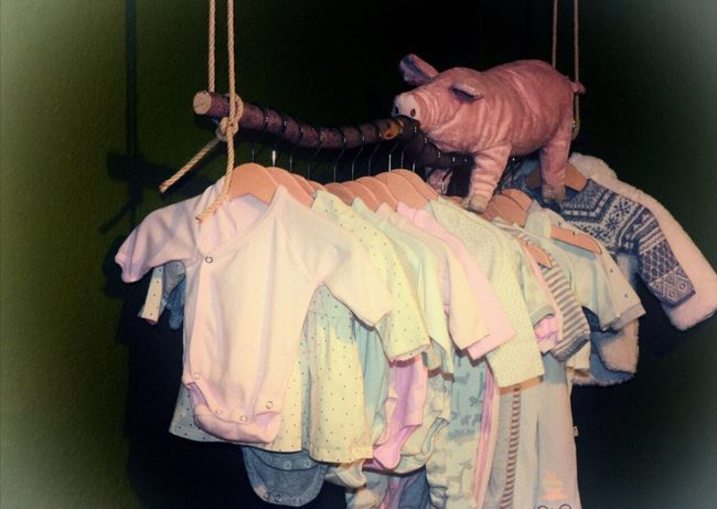 Our wardrobe Hanging Clothing Babygirl Baby Wardrobe Indoors  Multi Colored Textile Coathanger No People