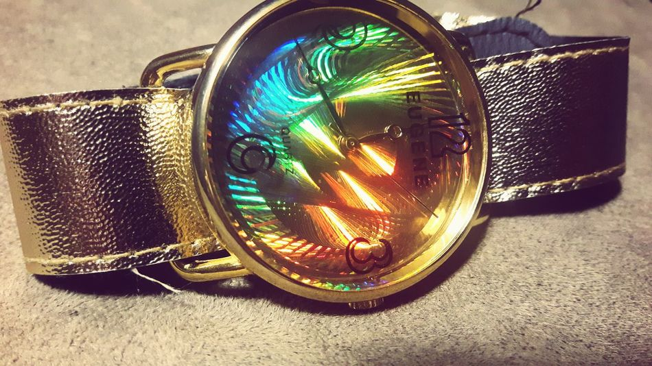 Watches⌚️ Rainbow Colors Gold Classic Classy