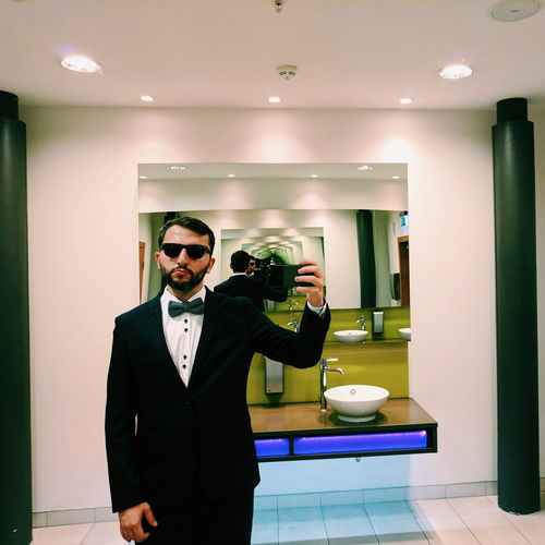 Classic wedding 🤳 // Standing Indoors  Real People Illuminated Day Young Adult People One Person Google Pixel F/2.0 Reflection Loop Mirror Mirror Selfie via Fotofall