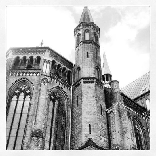 Schwerin Paulskirche Mecklenburg Mecklenburgvorpommern germany gothik blackandwhite