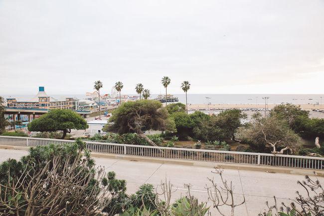 California Los Angeles, California Road Santa Monica Santa Monica Pier Beach La Palm Trees