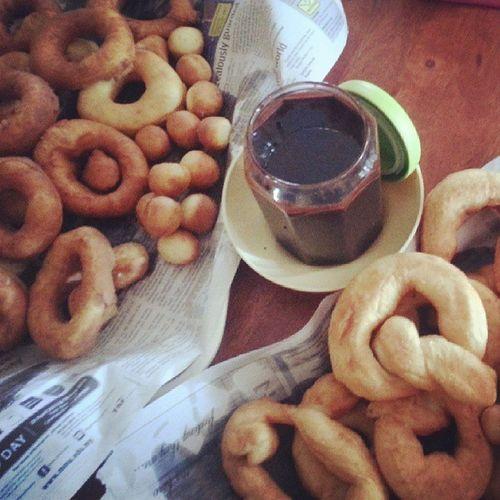 Lunch homemade coklat & donut ..