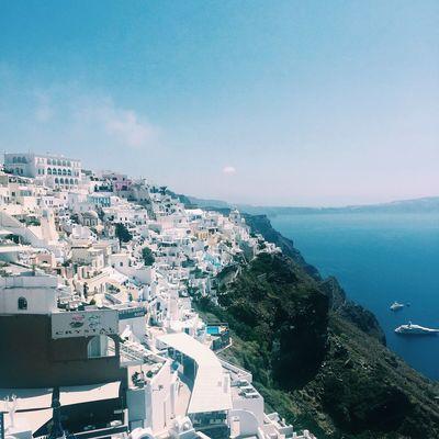 Santorini Greece Sea Seaview Done That.