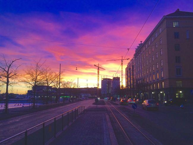 Helsinki Sunset Colorful Energy